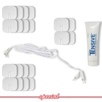 Square Silicone Electrodes, Tensive, &  Lead Special