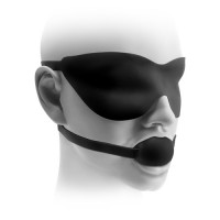 "FF Elite Silicone Ball Gag & Mask, 1.75"", Black"