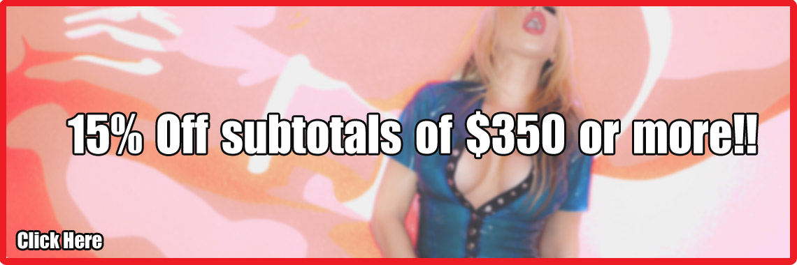 15% off subtotals of $350 or more!!