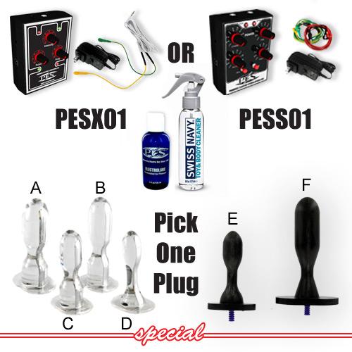 P.E.S. ElectroSex Anal Plug Beginner Kit