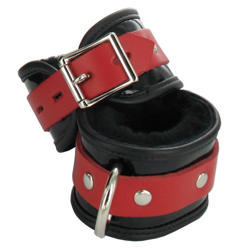 Firecracker Patent Leather Wrist Restraints