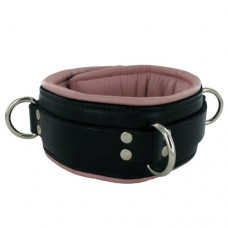 Locking Padded Collar w Pink Lining