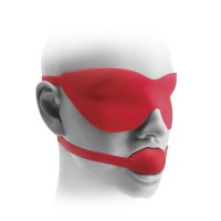 "FF Elite Silicone Ball Gag & Mask, 1.75"", Red"