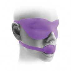 "FF Elite Silicone Ball Gag & Mask, 1.5"", Purple"