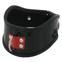 Firecracker Patent Leather Posture Collar