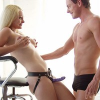 Kinklab Low Rise Leather Strap-On Harness